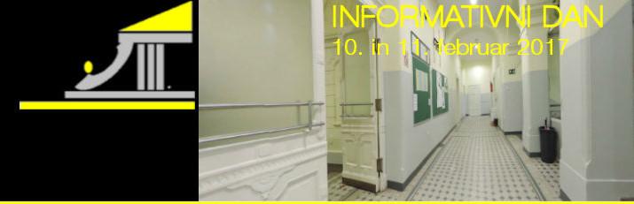 Informativni dan, 10. (9.00 in 15.00) in 11. (9.00)  februar 2017